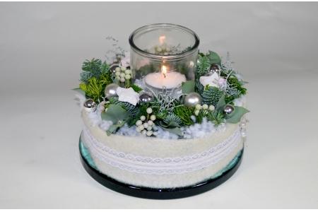 Kerst taart in wintersfeer