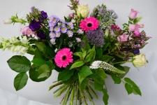 Boeket roze - wit - paars