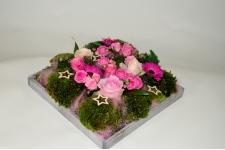 Kerst plateau roze