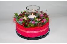 Kerst taartje rood