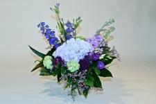 Luxe boeket blauw - paars
