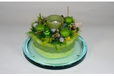 Taartje in kerstsfeer groen